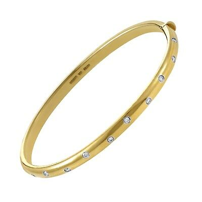 Tiffany & Co. Etoile 18K Yellow Gold and Platinum 10 Diamond Bracelet
