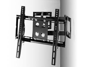 Staffa porta tv universale per parete ad angolo braccio a muro lcd ...