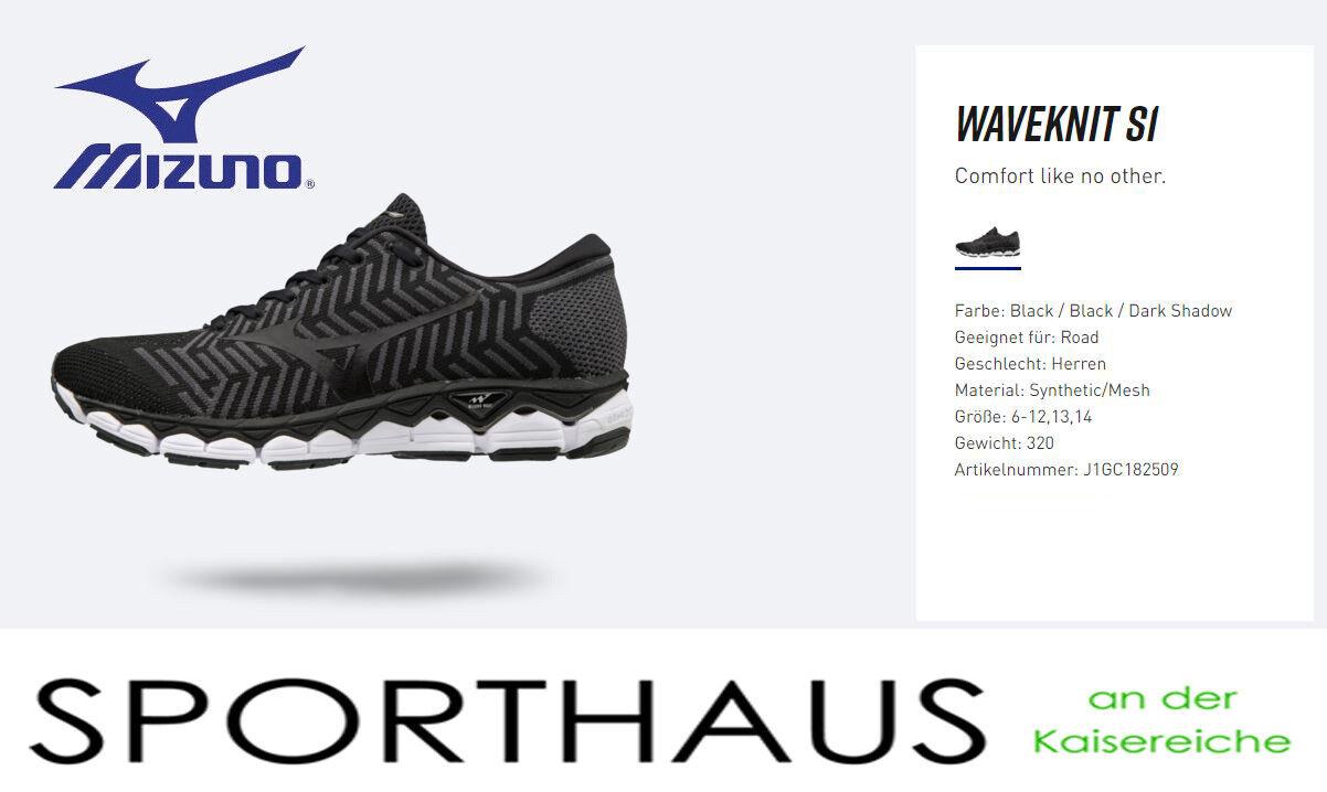 Mizuno Waveknit S1 Laufschuh Laufen schwarz - Herren 2018