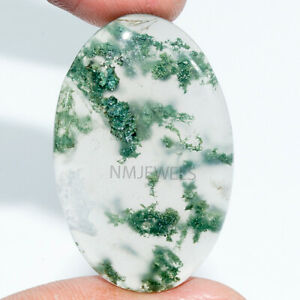 Cts-43-20-Natural-Designer-Moss-Agate-Cabochon-Oval-Cab-Loose-Gemstone