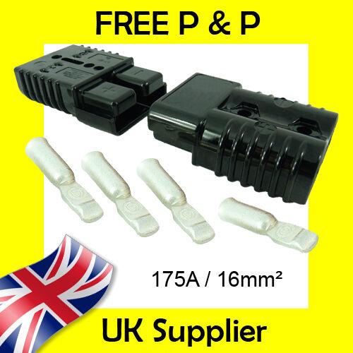 175 Amp Batterie Connecteurs 16 mm² Terminaux Compatibles Avec Anderson Noir 175 A