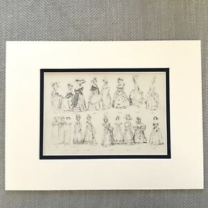 1900-Antico-Stampa-Storico-Moda-Costume-Abito-Donna-Sfera-Gowns