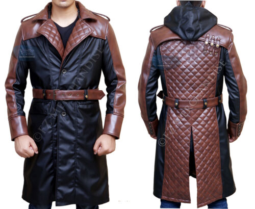 Jacob Frye Syndicate Mens Halloween Costume Leather Trench Coat