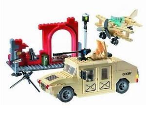 Military-Hummer-Truck-Plane-amp-Fort-Custom-Lego-Set