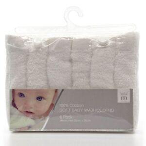 Meridiana-100-Soft-Baby-White-Washcloths-Pack-Of-6