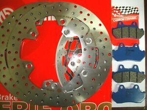 KIT 2 DISCHI BREMBO+PASTIGLIE ANTERIORI HONDA 750 CBX F 1985 1986 1987 1988