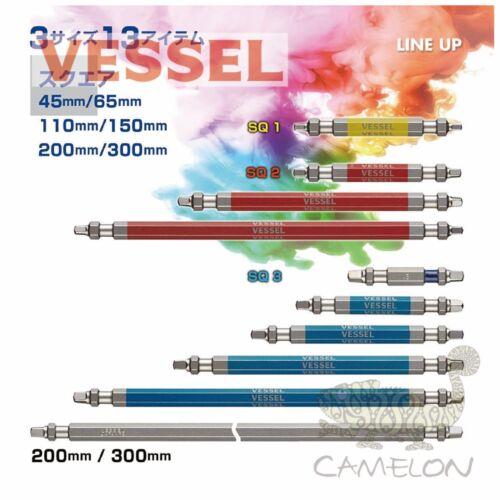 Navire gosai Color Coded Square Driver Bit No.GS14SQ 1,2,3 65-300 mm 1,2pcs Japon
