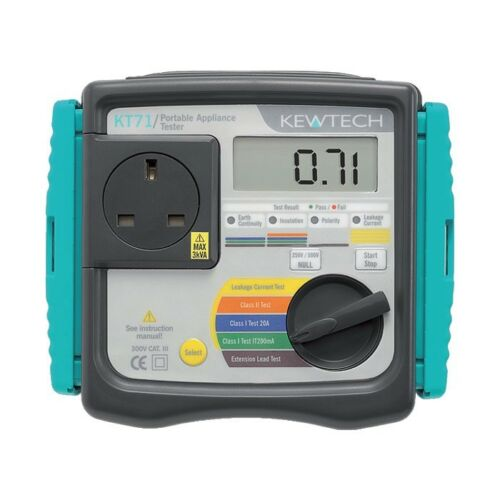 1 of 1 - Kewtech KT71 Mains Powered PAT Tester with Auto Test Sequences