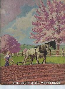 NF-028 - Vintage Louis Allis Messenger Magazine March April 1940 Illustrated