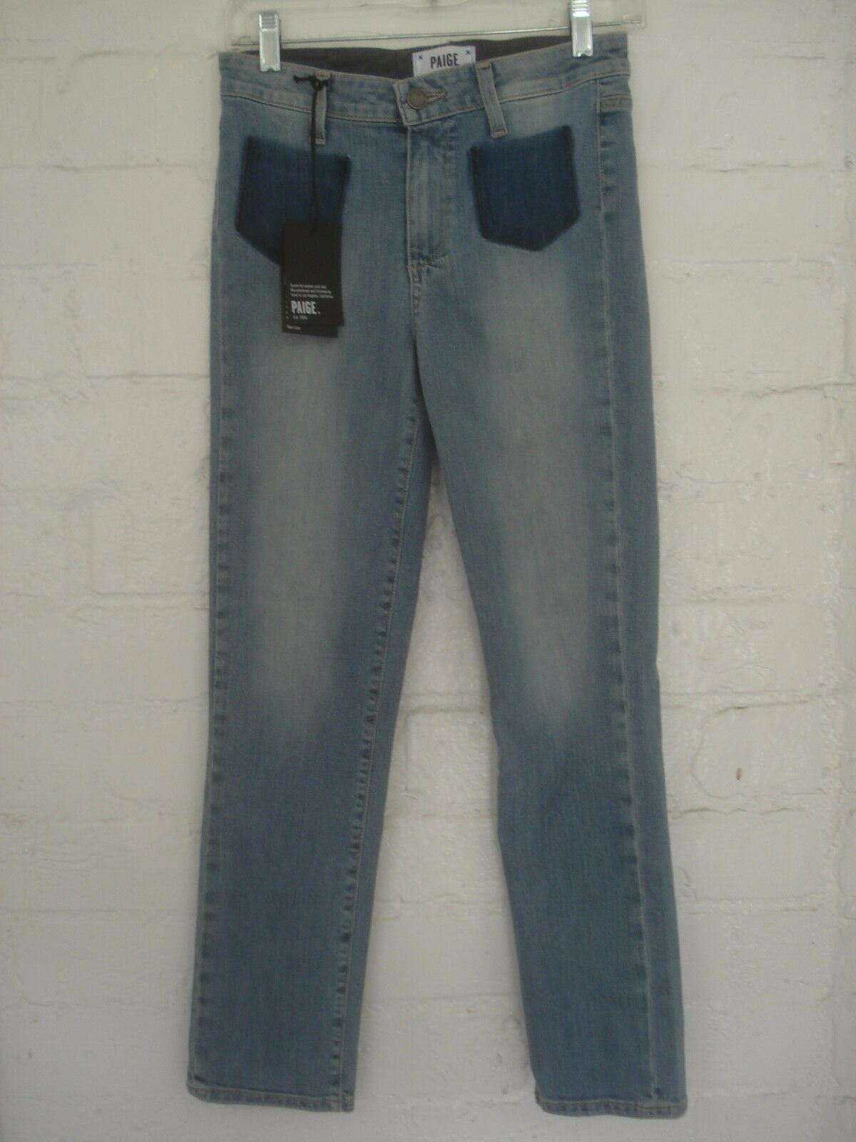PAIGE JACQUELINE STRAIGHT HIGH RISE CROP JEANS BELLA NEW WITH TAGS SIZE 25