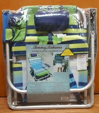 Tommy Bahama Backpack Beach Chair green Cooler Stripe with Pouch And Towel Bar
