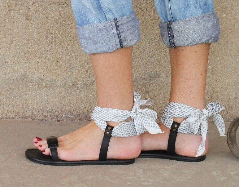 Avec ModerationPolka Dot Scarf Ankle Wrap SandalsFlats39 350 SOLD OUT