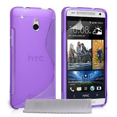 Caseflex Mobile Accessories For The HTC One Mini Silicone Gel Case Cover & Film