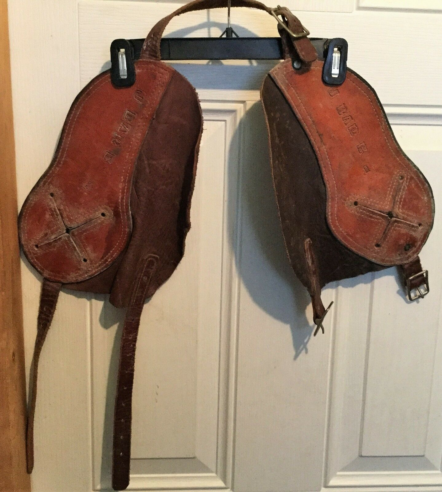 Leather Horn Wraps Bull Calf Safety Cowboy Bronc Rodeo Roping J Bar E 1