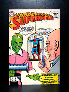 COMICS-DC-Superman-167-1964-1st-Brainiac-II-1st-Luthor-amp-Brainiac-team-up