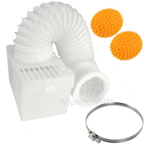 100cm montabile a parete condensatore Box Tubo Clip /& Palline per asciugatrice Hoover