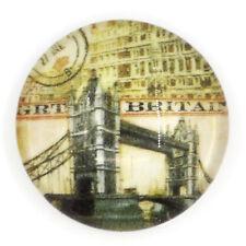 Glass cabochon 16 mm London Tower Bridge 4 pcs