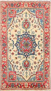 Geometric Classic Super Kazak Oriental Wool Handmade Vegetable Dye Area Rug 2x3