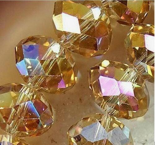 Wholesale 142Pcs Nouveau Jaune Cristal loose Aérographe Perles 3*4mm