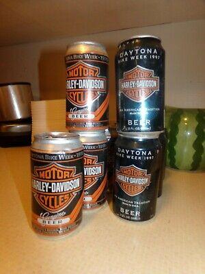 """HARLEY-DAVIDSON BEER /""""Daytona Bike Week 1998/"""" Beer Can Tab Never Used!"""