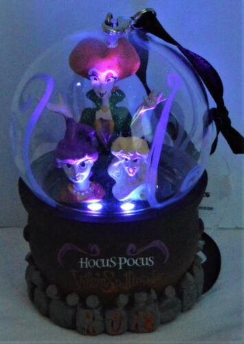 Disney 2018 Not So Scary Halloween Party Hocus Pocus Ornament Light Up NEW CUTE