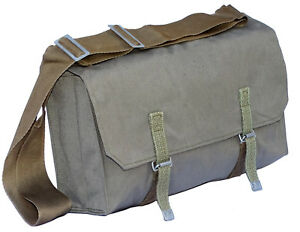 1970s-Army-Shoulder-Bag-Grey-Canvas-Retro-Vintage-Messenger-Spacious-Cross-Body