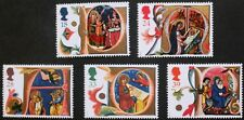 Christmas 1991, illuminated letters Acts of Mary & Jesus stamps, Ref: 1582-1586