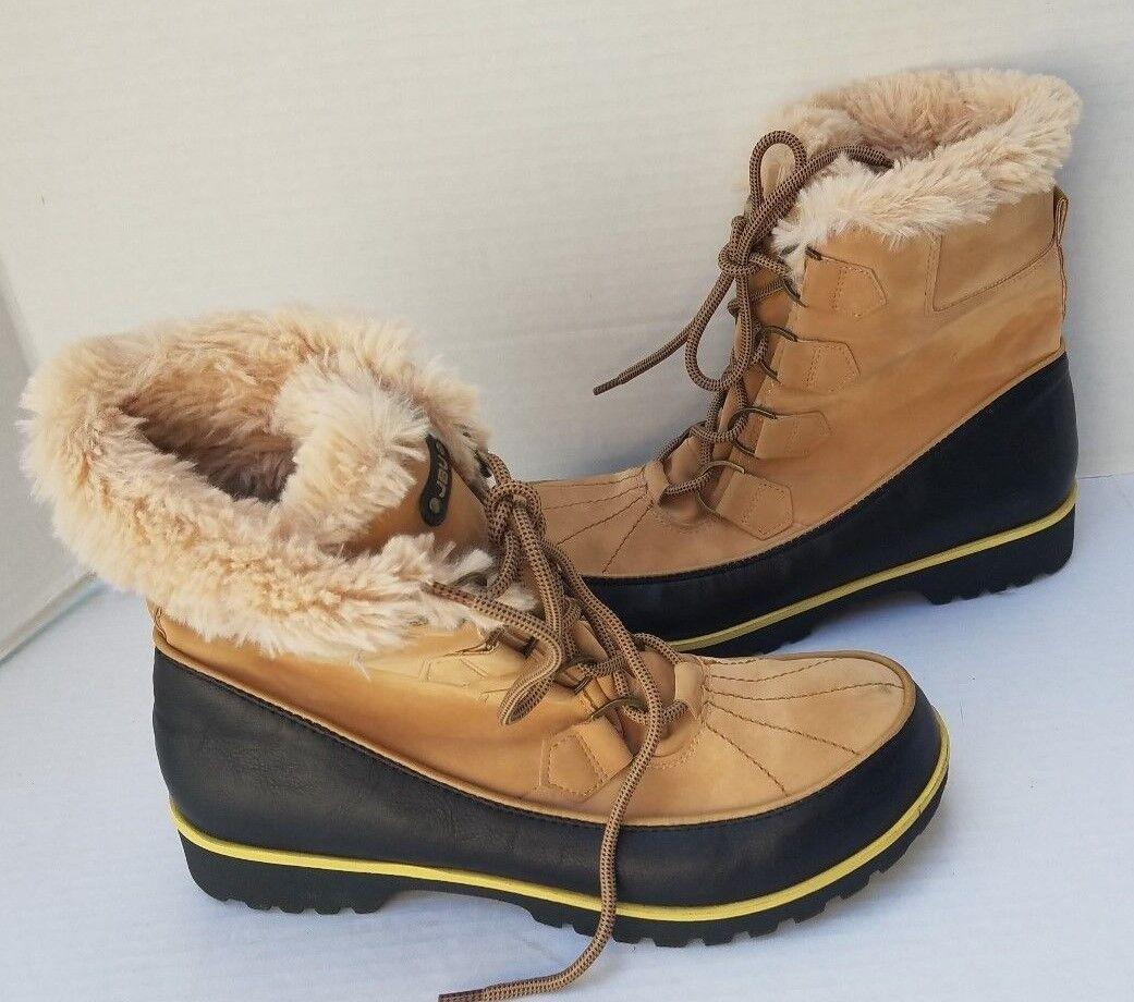 JBU by Jambu Women Black Taupe Tan Faux Fur High Top Lace Up Boots MEND0CHINO 10