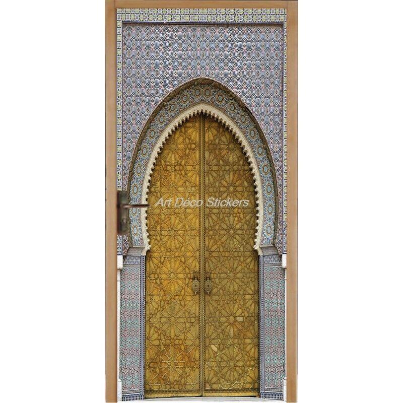 Cartel Póster de Puerta Trampantojo Ojo Oriental 061 Arte Decoración Pegatinas