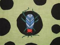 Bugs Dots Spot Beetle Fly Bee Insect Blend Fabric Cotton 24 Remnant