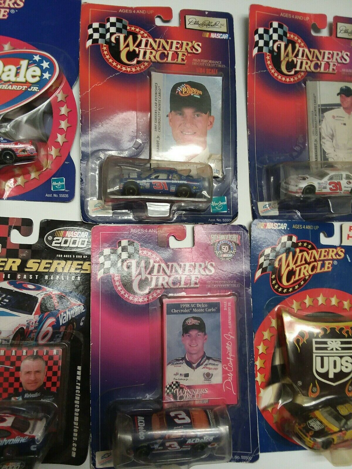 Lot Of 6 Nascar Cars,1 Dale Earn Hardt,4 Dale Jr Jr Jr And 1 Mark Martin.New da2918