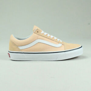5 4 Blanchi 6 Skool Blanc Taille 8 7 Au Royaume Abricot Vans Chaussures Uni Baskets Old RS7qF7
