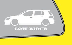 2x Low Ride Vw Golf Mk6 A6 5 Door Gti Gt Gtd Silhouette Sticker