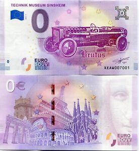 Technik-Museum-Sinsheim-Frankfurt-Brutus-Car-0-Euro-Souvenir-Note-2018-Series-2