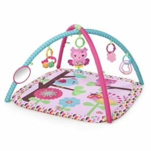 New-Bright-Starts-Pretty-In-Pink-Activity-Baby-Gym-Charming-Chirps