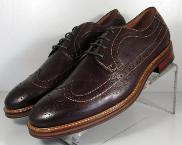 206932 MS50 Men's Shoes Size 10 M Brown Leather Lace Up Johnston & Murphy