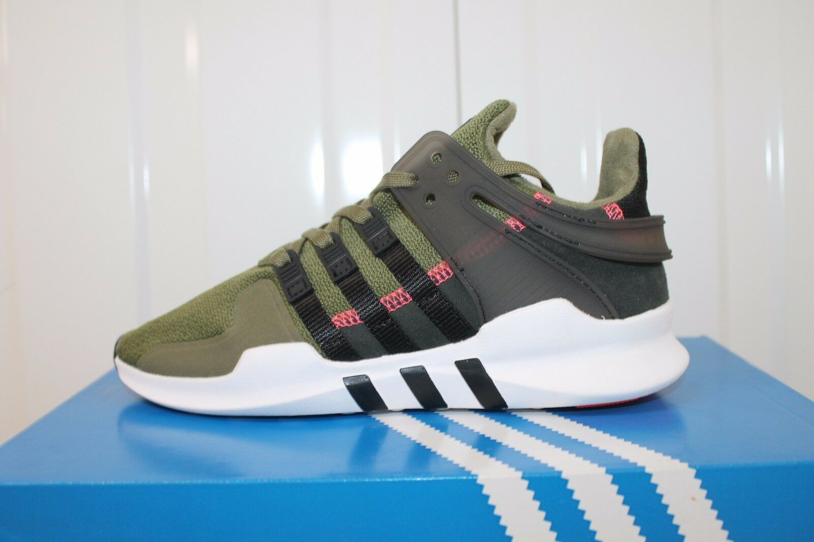 ADIDAS EQT SUPPORT GS OLIVE CARGO GREEN BLACK JUNIOR BOYS/GIRLS BNIB   34