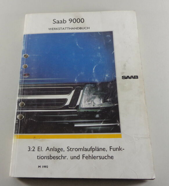 Workshop Manual Saab 9000 Electric Electric Schematics
