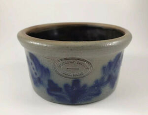Beaumont-Pottery-Signed-With-Cross-1984-Crock-York-Maine-Pottery-BBP