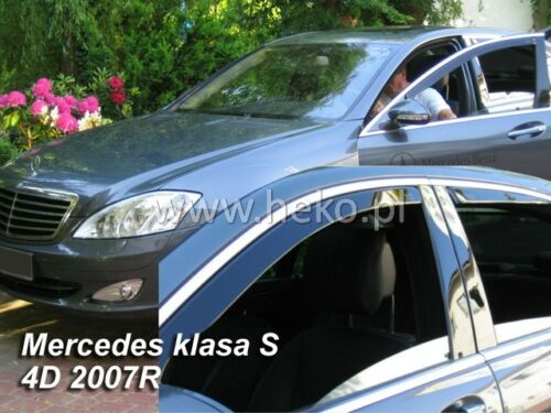 HEKO 23261 saute vent 2 pièces Mercedes classe S w221 4 türig année de construction 2005-2013