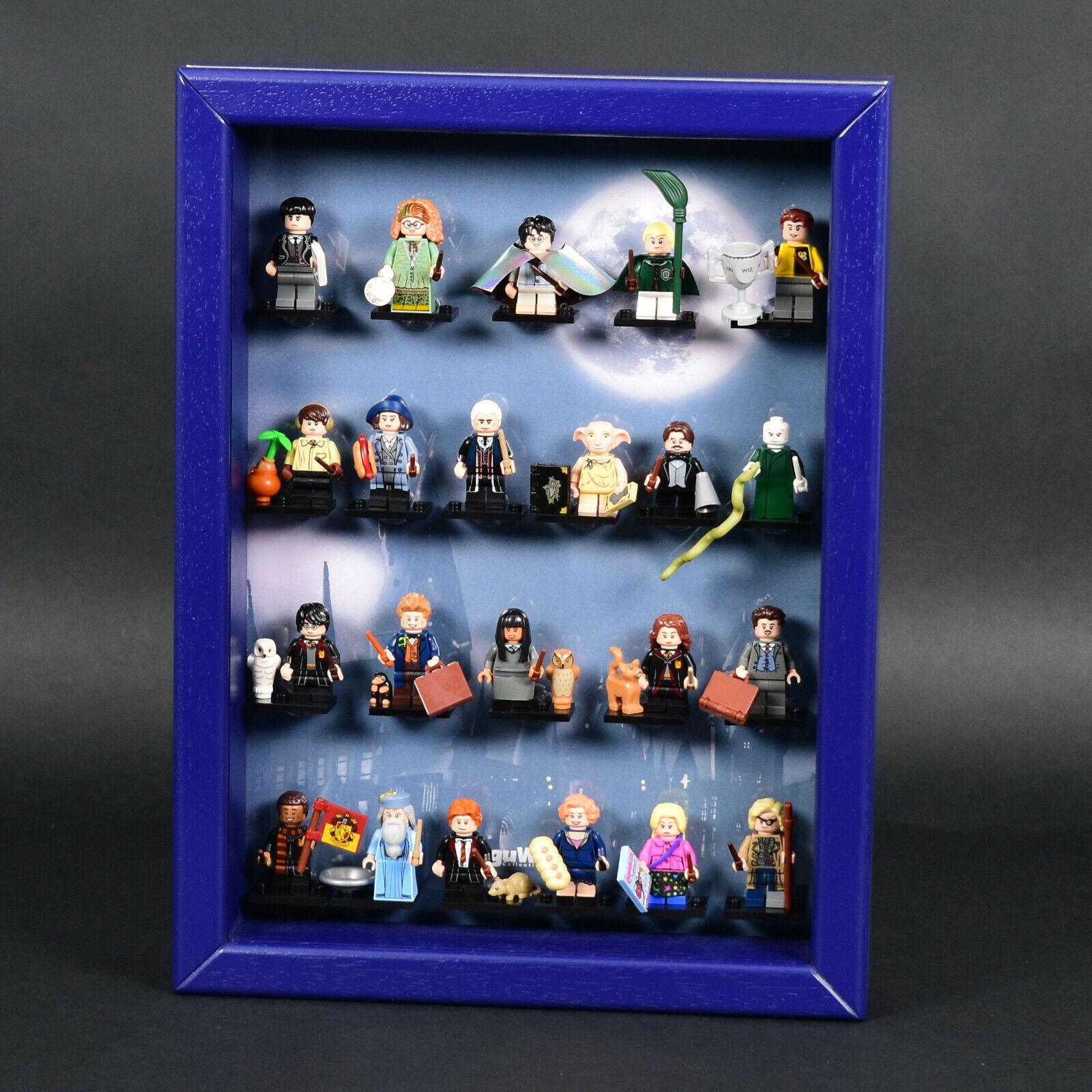 FiguCase® Click System Vitrine für LEGO® Serie Harry Potter (71022) Blau Blau