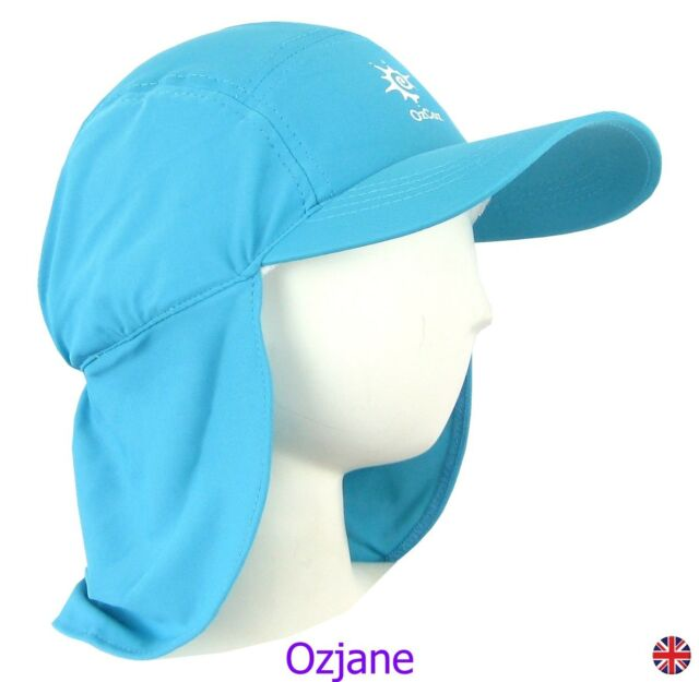 60745c3d7d6 BOYS UV 50 +OZCOZ SWIM HAT SUN PROTECTION LEGIONNAIRE AQUA 7 TO 10 YRS