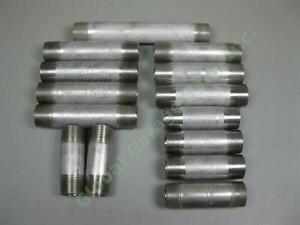 14-1-034-NPT-Stainless-Steel-SS-304-Sch-40-Barrel-Nipple-Pipe-Fittings-3-1-2-8-034-Lot