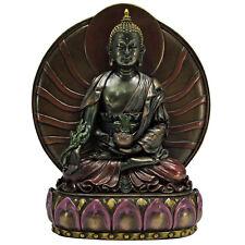 Medicine Buddha Statue - Cold Cast Resin - Buddhist Shakyamuni Icon Statuary