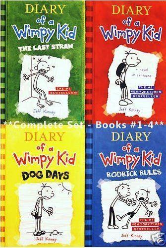 Diario di un ragazzo di Wimpy, Libri 1-4  Diario di un Wimpy Kid, Rodrick Rules, The Last S