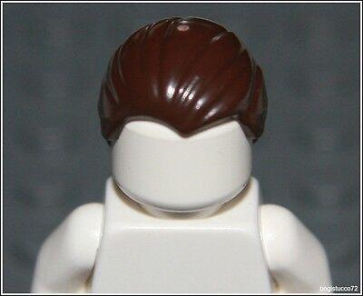 Lego Harry Potter x1 Dark Brown Combed Back Hair Batman Boy Man Minifigure NEW