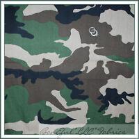 Boneful Fabric Fq Poly Cotton Decor Usa Military Camo Camouflage Uniform Costume