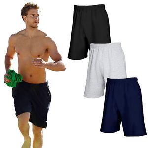 Herren-kurze-Hose-Fruit-of-the-Loom-Sporthose-Fitnesshose-Maenner-Bermuda-S-XXL