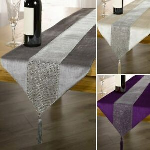 Image Is Loading Luxury Table Runner Rhinestone Table Cover Cloth Dinner