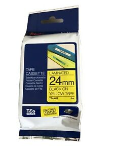 Ruban encreur Brother TZe-651 Couleur de ruban: jaune Couleur de police:noir 24